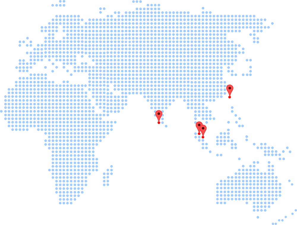 Our Location - Singapore, Malaysia, India and Taiwan